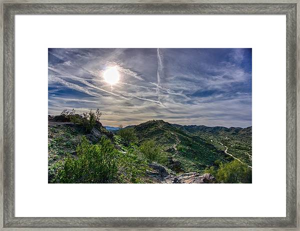 South Mountain Depth Framed Print
