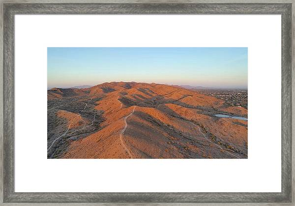 South Mountain Sunrise Framed Print