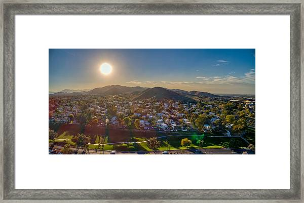 South Mountain Sunset Framed Print
