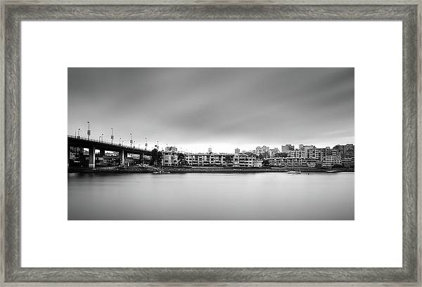 Framed Print featuring the photograph Venice Court, Vancouver Bc, Canada by Juan Contreras