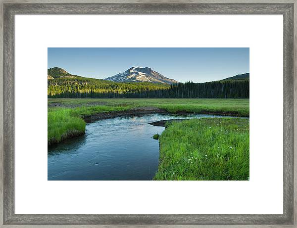 South Sister, Oregon Cascades Framed Print