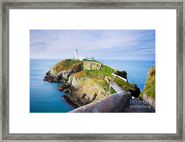 South Stack Lighthouse In Anglesey Framed Print