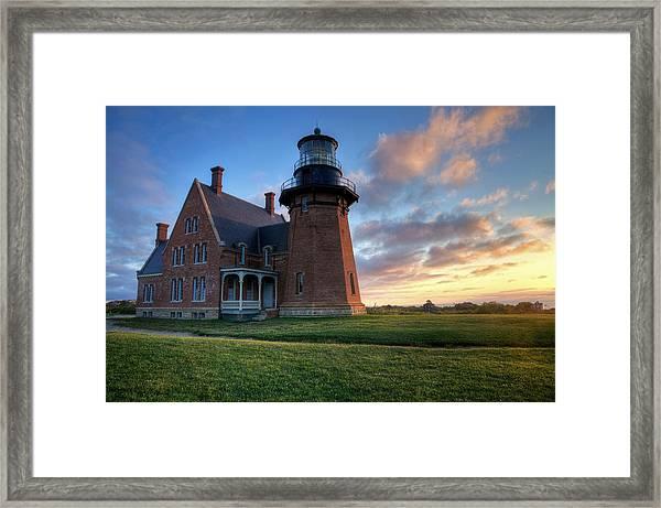 Southeast Light Sunrise Framed Print