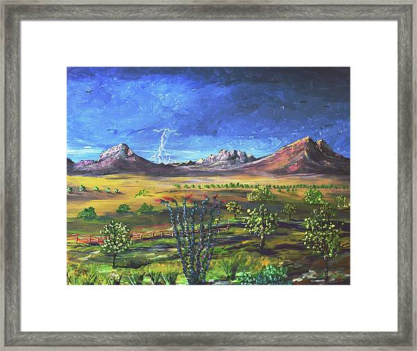 Framed Print featuring the painting Southern Arizona Grandeur  by Chance Kafka