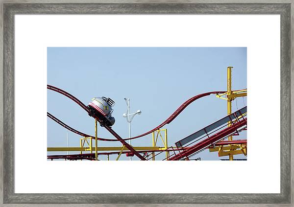 Southport.  The Fairground. Crash Test Ride. Framed Print