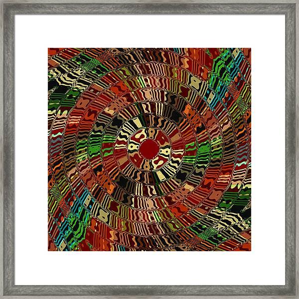 Southwestern Sun Swirl Framed Print