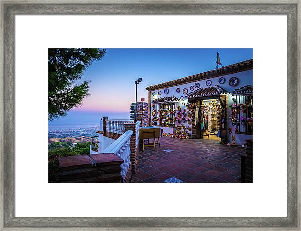 Souvenirs From Above Framed Print