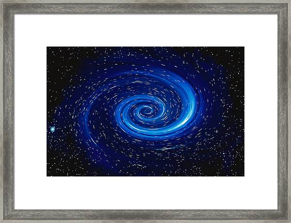 Space Image Generated By Computer Framed Print