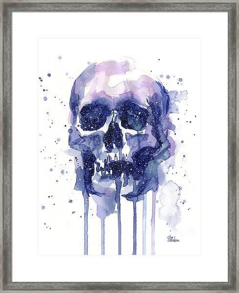 Space Skull Framed Print