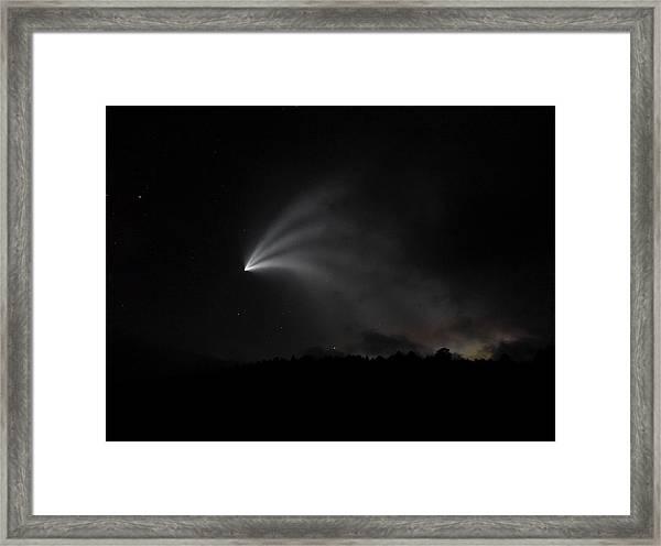 Space X Rocket Framed Print