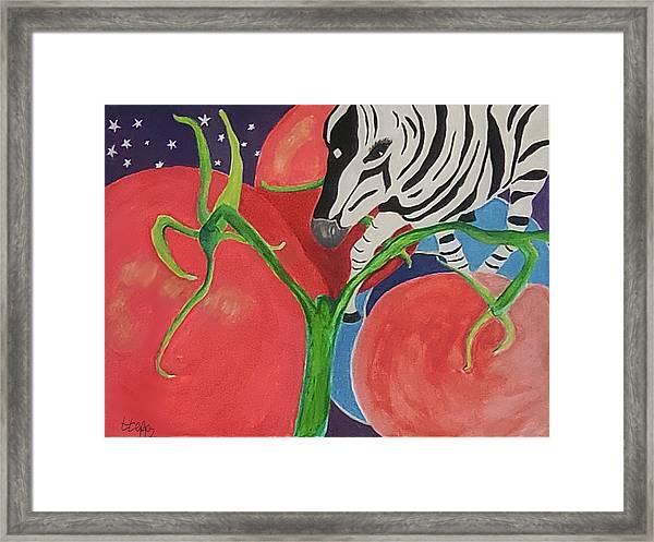 Space Zebra Framed Print
