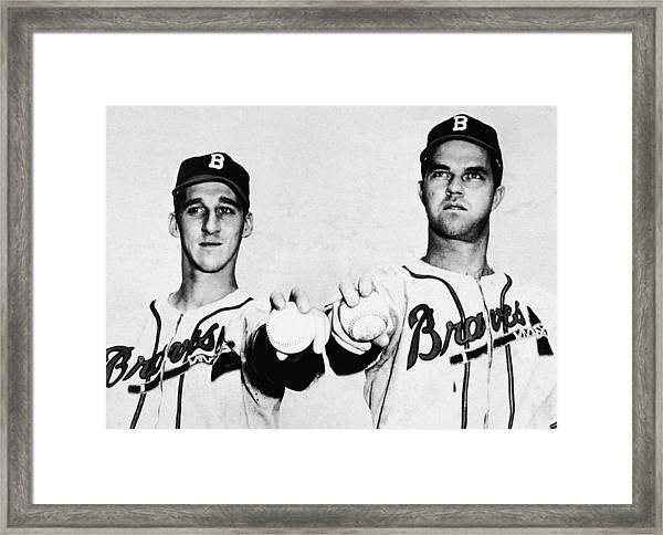 Spahn & Sain Of The Boston Braves Framed Print