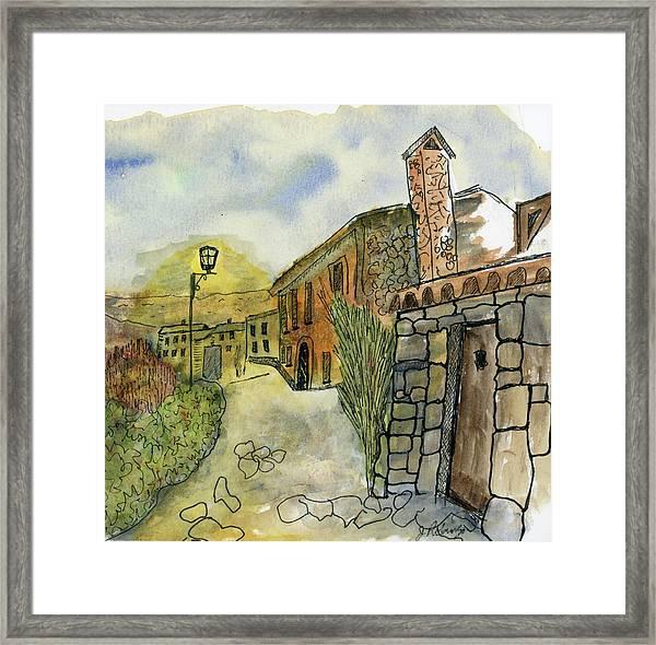 Spain Medieval Village Framed Print
