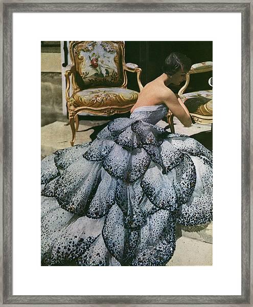 Spangled Christian Dior Evening Gown, 1949 Framed Print by Horst P Horst