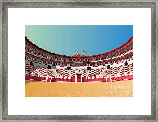 Spanish Bullfight Arena Framed Print