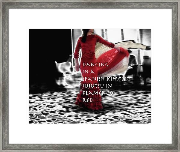 Spanish Kimono  Framed Print by Steven Digman