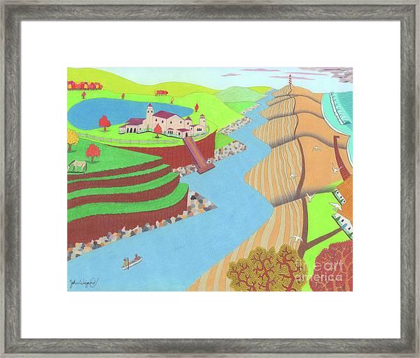 Spanish Wells Framed Print