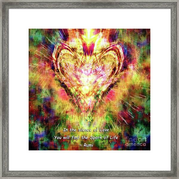 Framed Print featuring the digital art Spark Of Life by Atousa Raissyan
