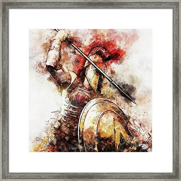 Spartan Hoplite - 54 Framed Print