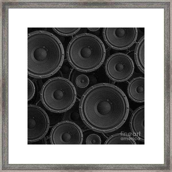 Speakers Seamless Background - Texture Framed Print