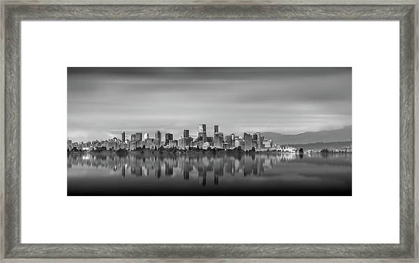 Special View Of Downtown Vancouver Framed Print