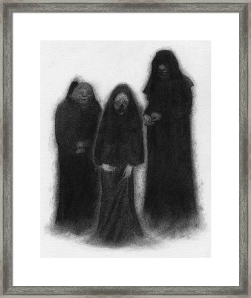 Specters Of The Darkness Beneath - Artwork Framed Print