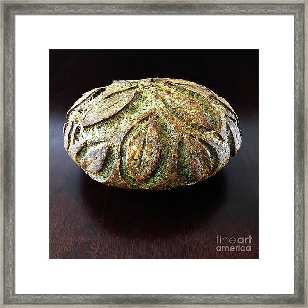 Spicy Spinach Sourdough 2 Framed Print