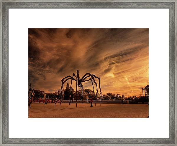 Framed Print featuring the photograph Spider Maman - Ottawa by Juan Contreras