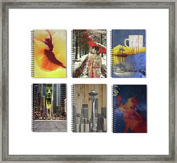 Spiral Notebooks Samples Framed Print