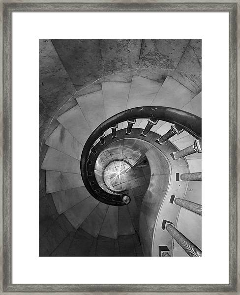 Spiral Staircase, Lakewood  Cemetary Chapel Framed Print