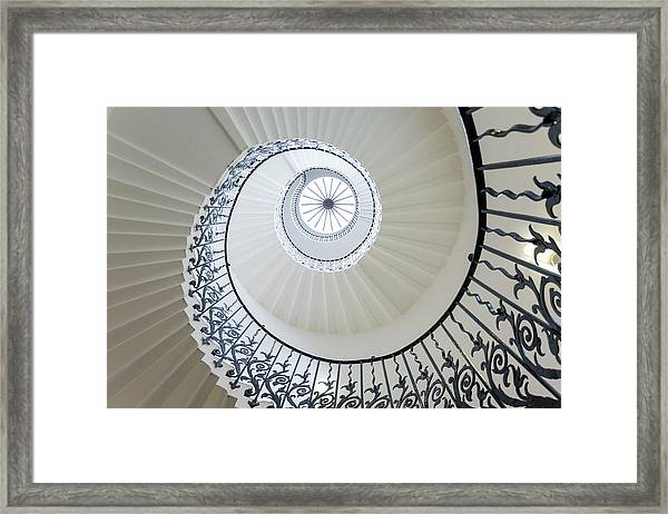 Spiral Staircase, The Queens House Framed Print
