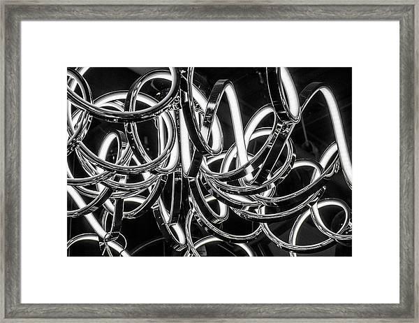 Spirals Of Light Framed Print