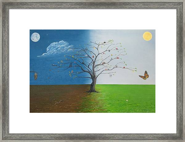 Framed Print featuring the painting Spirit Of Eden by Kevin Daly