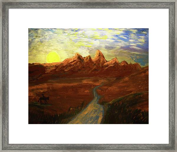 Spirit Of Wyoming Framed Print