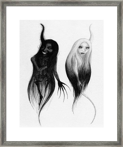 Spirits Of The Twin Sisters - Artwork Framed Print