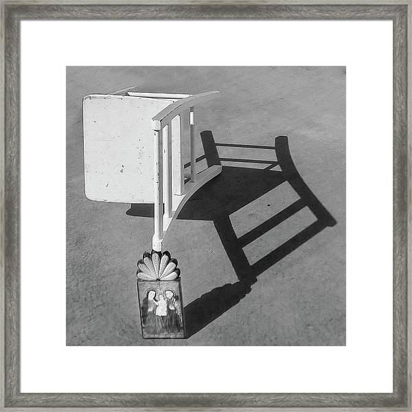 Questions / The Chair Project Framed Print