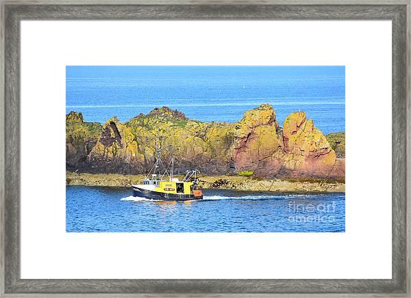 Spitfire Trawler Dunbar Framed Print by Yvonne Johnstone