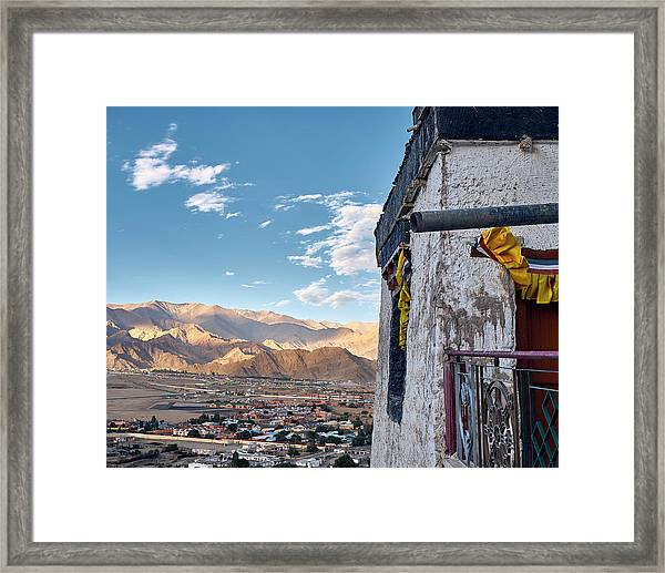 Framed Print featuring the photograph Spituk Gompa by Whitney Goodey