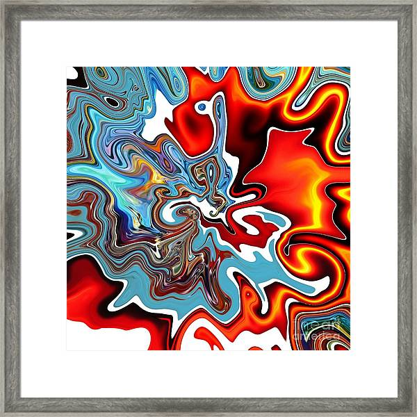 Framed Print featuring the digital art Splash by A zakaria Mami