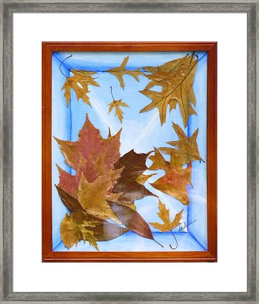 Splattered Leaves Framed Print