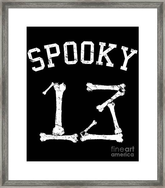 Spooky 13 Halloween Jersey Framed Print