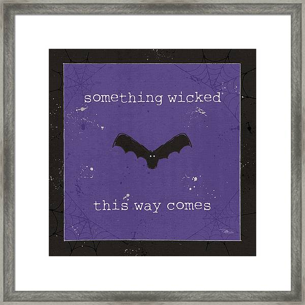 Spooky Cuties Iv Purple Framed Print by Pela Studio