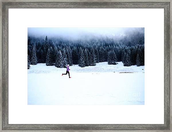 Sport, Fitness Inspiration And Framed Print