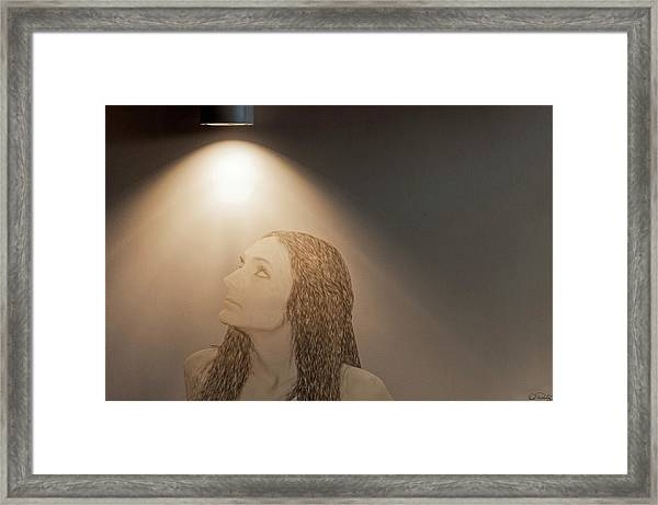 Framed Print featuring the photograph Spot Light by Dee Browning