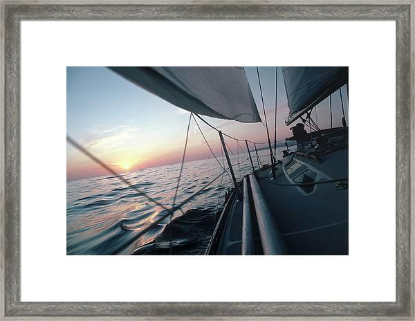 Sprc789 Sailboat Framed Print