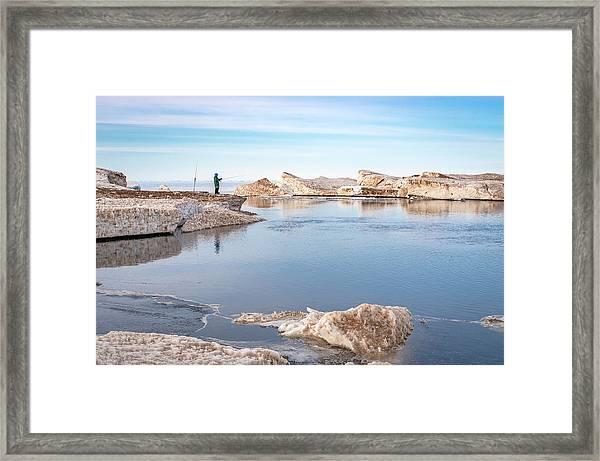 Spring Fishing Framed Print