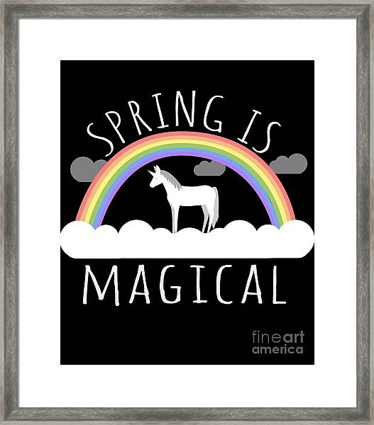 Spring Is Magical Framed Print