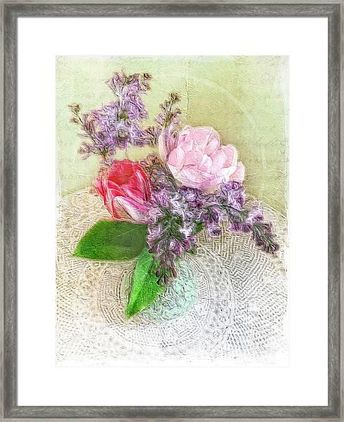 Spring Song Floral Still Life Framed Print