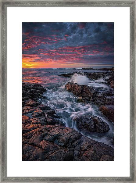 Spring Sunrise At Marginal Way Framed Print