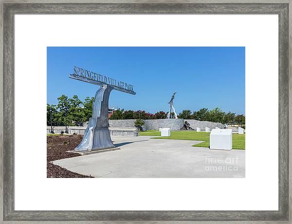 Springfield Village Park - Augusta Ga Framed Print